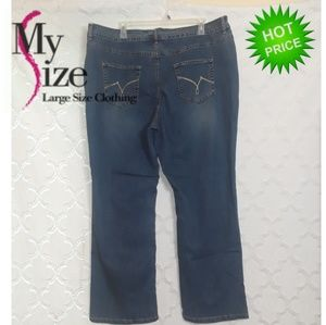 Sz26  NEW Just My Size Plus Size Bootleg Jeans